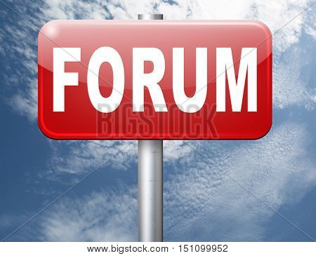 forum internet icon website www logon login and subscribe to participate in discussion  3D illustration