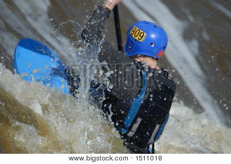 Blue Kayak Competing