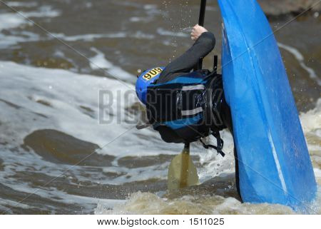 Blue Kayak Upright