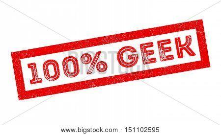 100 Percent Geek Rubber Stamp