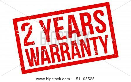 2 Years Warranty Rubber Stamp
