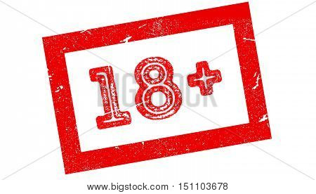 18 Plus Rubber Stamp