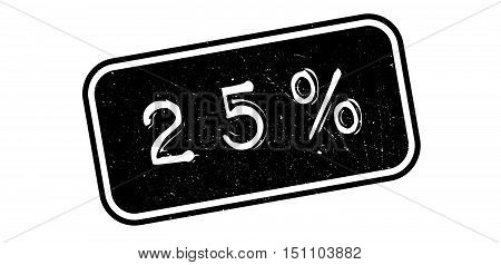 25 Percent Rubber Stamp