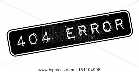 404 Error Rubber Stamp