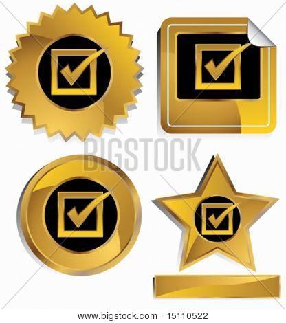 gold checkmark set