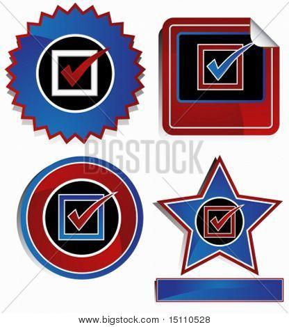 usa checklist sticker set