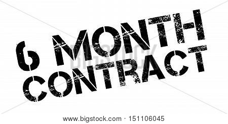 6 Month Contract Rubber Stamp