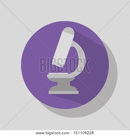 microscope science tool over purple circle. vector illustration