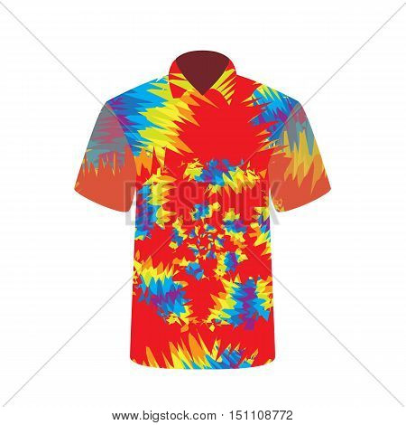 Colorful  T-shirt depicting abstract psychedelic. Vector Illustration. EPS10