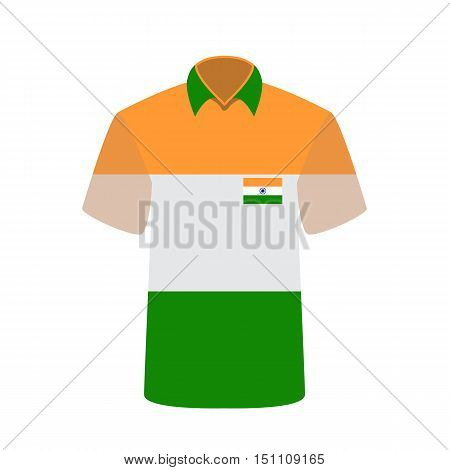 T-shirt with Indian Flag Background. Vector Illustration. EPS10