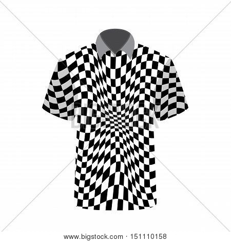 T-shirt depicting abstract psychedelic. Vector Illustration. EPS10
