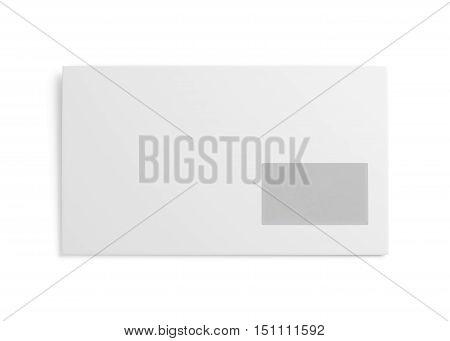 White Envelope Isolated On White Background. 3D Rendering