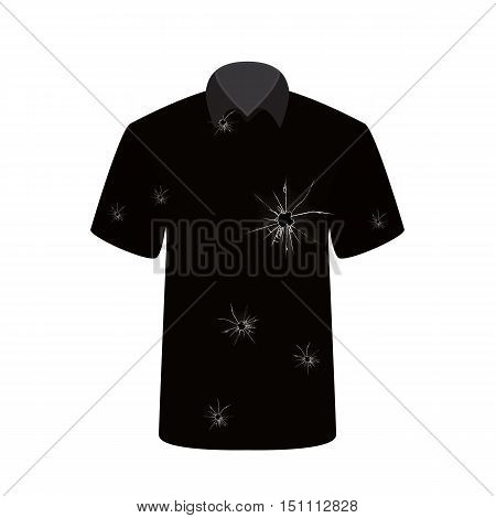 T-shirt with the image of the shot. Vector Illustration. EPS10