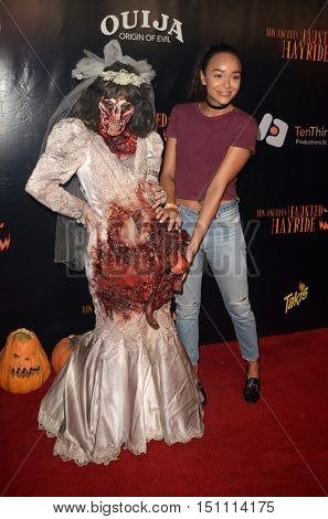 LOS ANGELES - OCT 9:  Ashley Madekwe at the Haunted Hayride 8th Annual VIP Black Carpet Event at the Griffith Park on October 9, 2016 in Los Angeles, CA