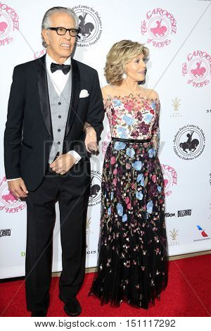 LOS ANGELES - OCT 8:  Richard Perry, Jane Fonda at the 2016 Carousel Of Hope Ball at the Beverly Hilton Hotel on October 8, 2016 in Beverly Hills, CA