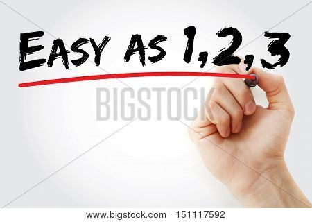 Hand Writing Easy As 1 2 3 With Marker