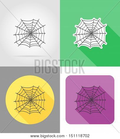 spider wed flat icons vector illustration isolated on background