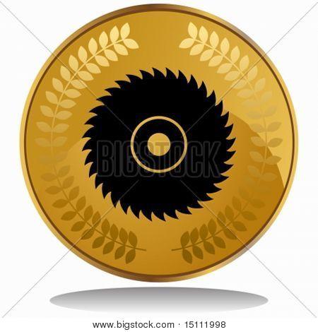 circular saw blade coin