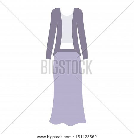 Female formal cloth icon. Fashion style and wear theme. Isolated design. Vector illustration