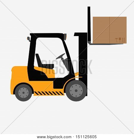 Forklift Truck Isolated