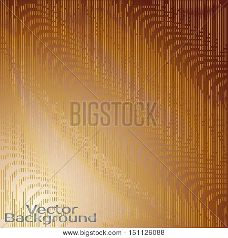 abctract gold background with line wawes, vector