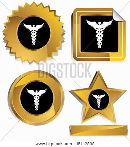 caduceus gold frame