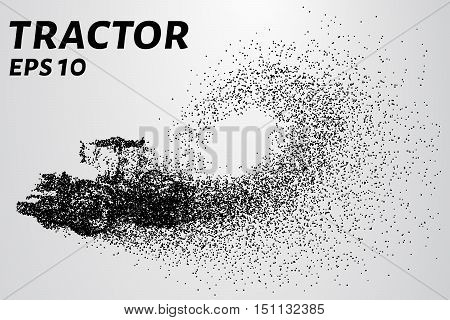 Tractor of the particles. Vector tractor consists of small circles. EPS 10