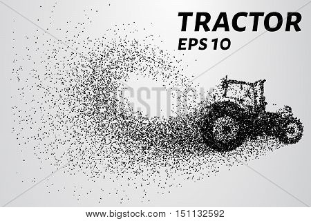 Tractor of the particles. The tractor consists of small circles.