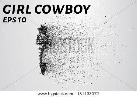 The cowboy girl from particles. EPS 10
