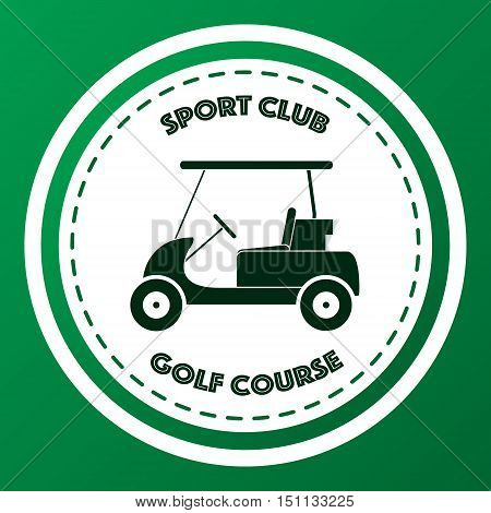 Sport club golf course logo design. Vector illustration on green background.