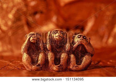 Morality, See no Evil Hear no Evil Speak no Evil, Monkey, Three Objects, Ape