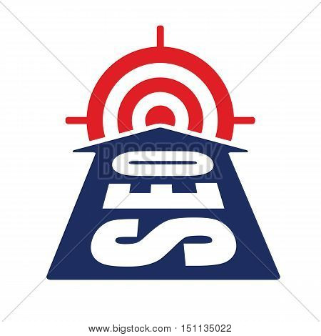 arrow with seo word reach target as website optimization and monetization concept vector illustration