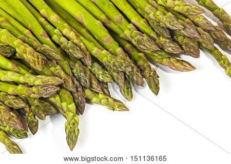 Tender Tips Of Fresh Green Asparagus Spears