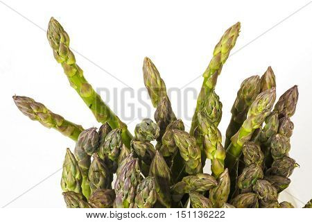 Growing Tips Of Fresh Green Asparagus Spears
