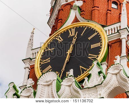 The Kremlin Clock or Kremlin chimes is a historic clock on the Spasskaya Tower of the Moscow Kremlin. Russia