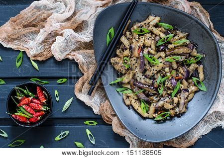 Chinese Eggplant With Soy Sauce And Chili