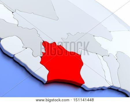 Ivory Coast On World Map