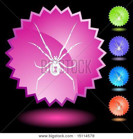 black widow spider neon