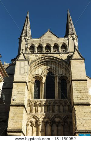 France the picturesque cathedral of Lisieux in Normandie