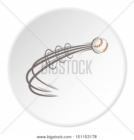 Baseball ball fly icon. cartoon illustration of baseball ball fly vector icon for web