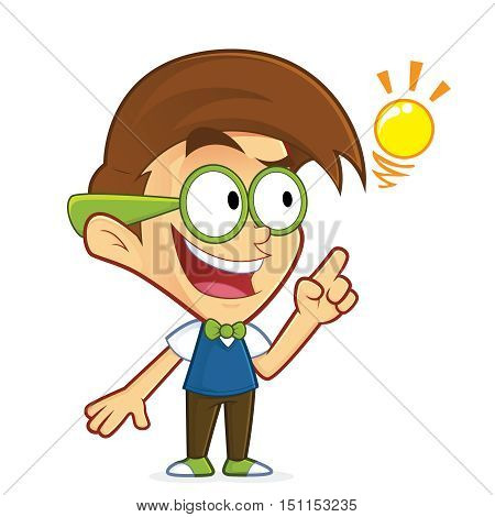 Clipart picture of a nerd geek cartoon character creative idea