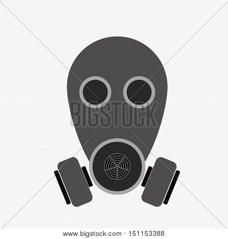 Respirator Icon On White Background