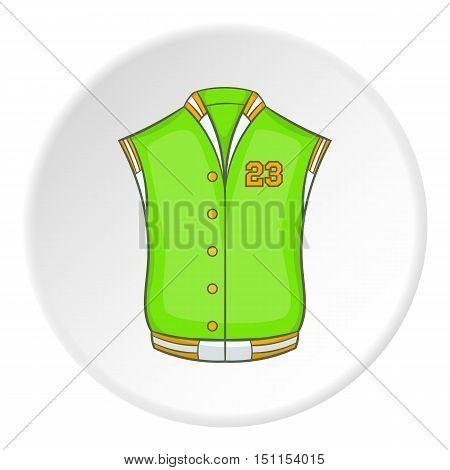 Green baseball jacket icon.cartoon illustration of baseball jacket vector icon for web