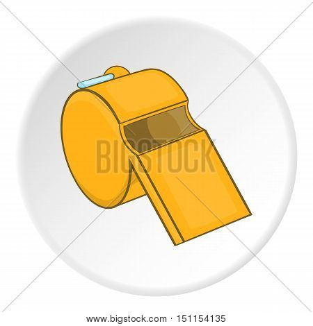 Sport whistle icon. cartoon illustration of sport whistle vector icon for web