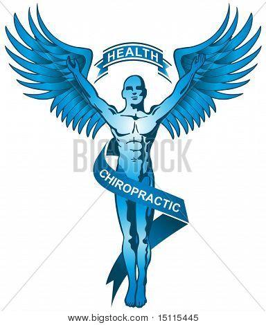 blue chiropractor symbol