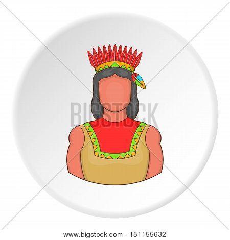 American indian icon. cartoon illustration of american indian icon vector icon for web