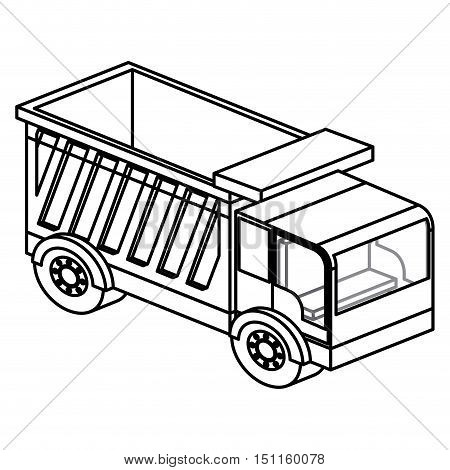 Dump icon. Truck and under construction theme. Isolated design. Vector illustration