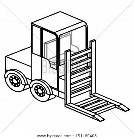 Forklift icon. Truck and under construction theme. Isolated design. Vector illustration
