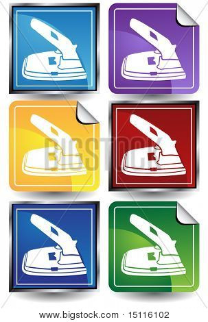 two hole paper puncher icon color