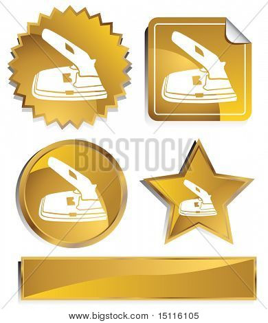 two hole paper puncher icon gold